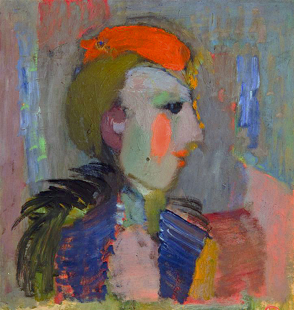 Артур Нахт-Самборський. Жінка з рум'янцем, 1939; олія, фанера