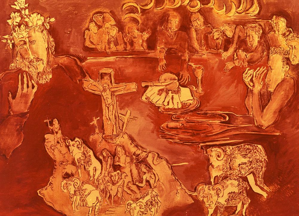 Христина Абрагамовська. Тайна вечеря, 1989; олія, полотно