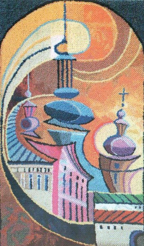 Уляна Слюсар. Сонячний вихор, 1992. Килимова голка. 76 х 49 см
