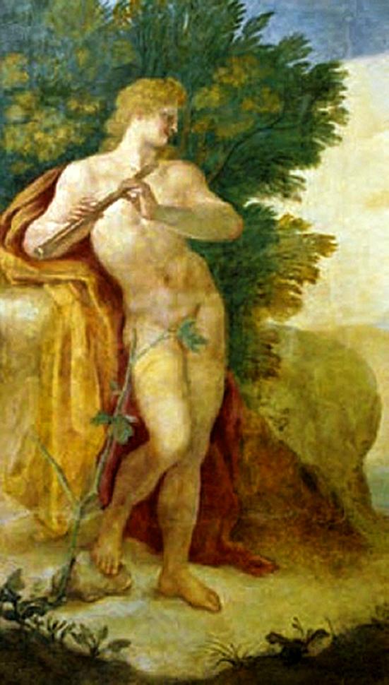 Єжи Шимонович. Аполлон грає на флейті, 1692; фрагмент фрески; Вілянув