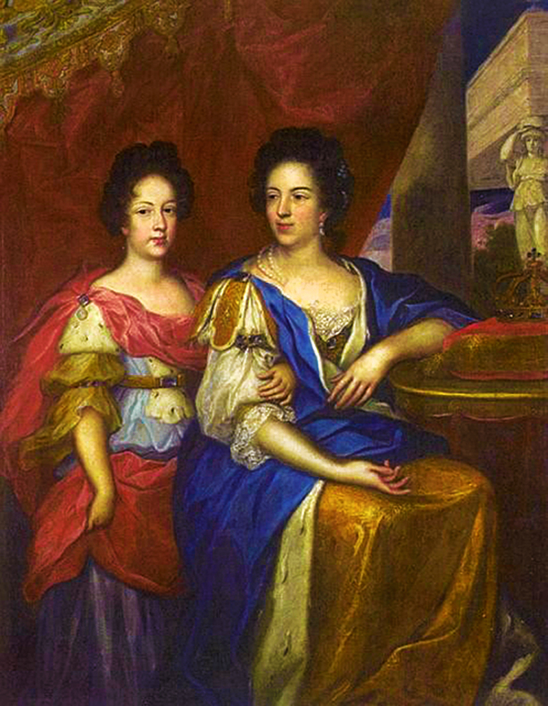 Єжи Шимонович. Королева Марія та дочка Тереза, 1690; полотно, олія; Вілянув