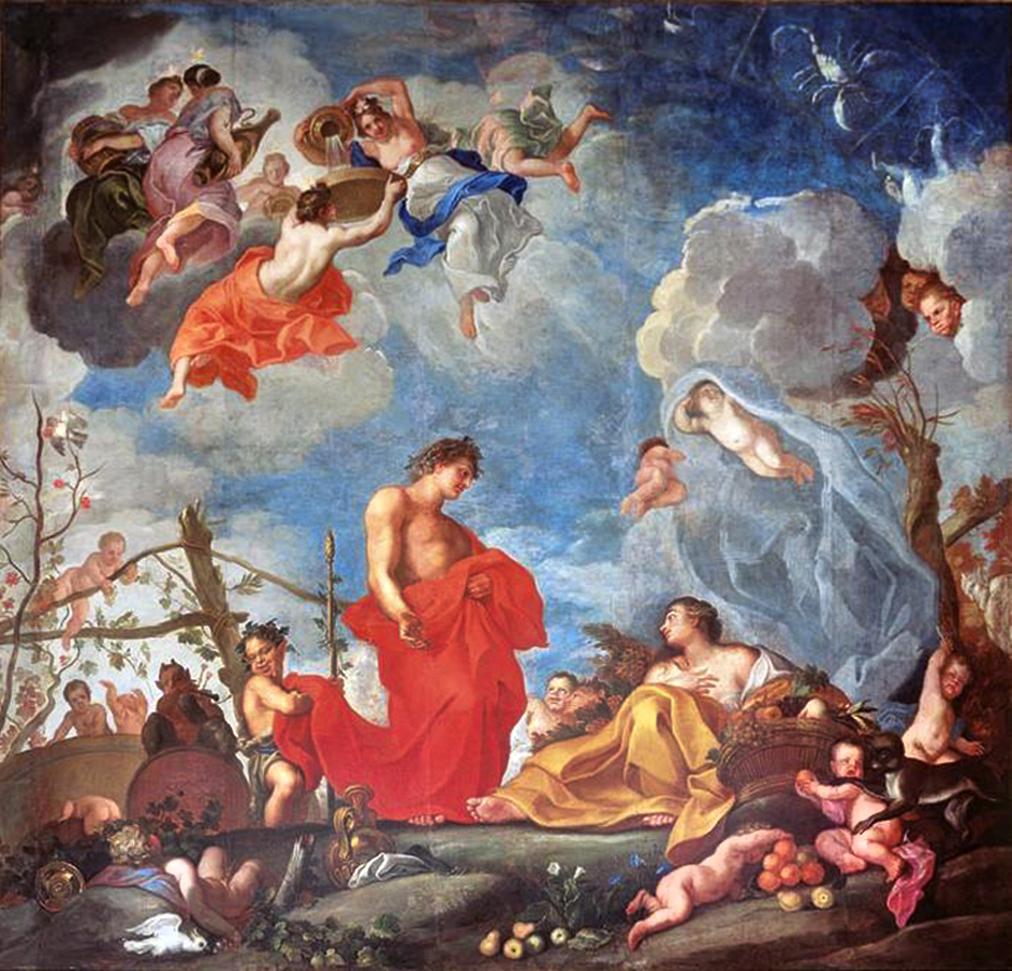 Єжи Шимонович. Плафон Осінь, 1682; полотно, олія; Вілянув
