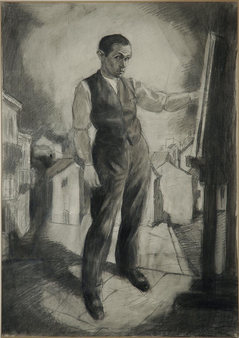 Бруно Шульц. Автопортрет, 1921; туш, олівець, папір; ЛНГМ