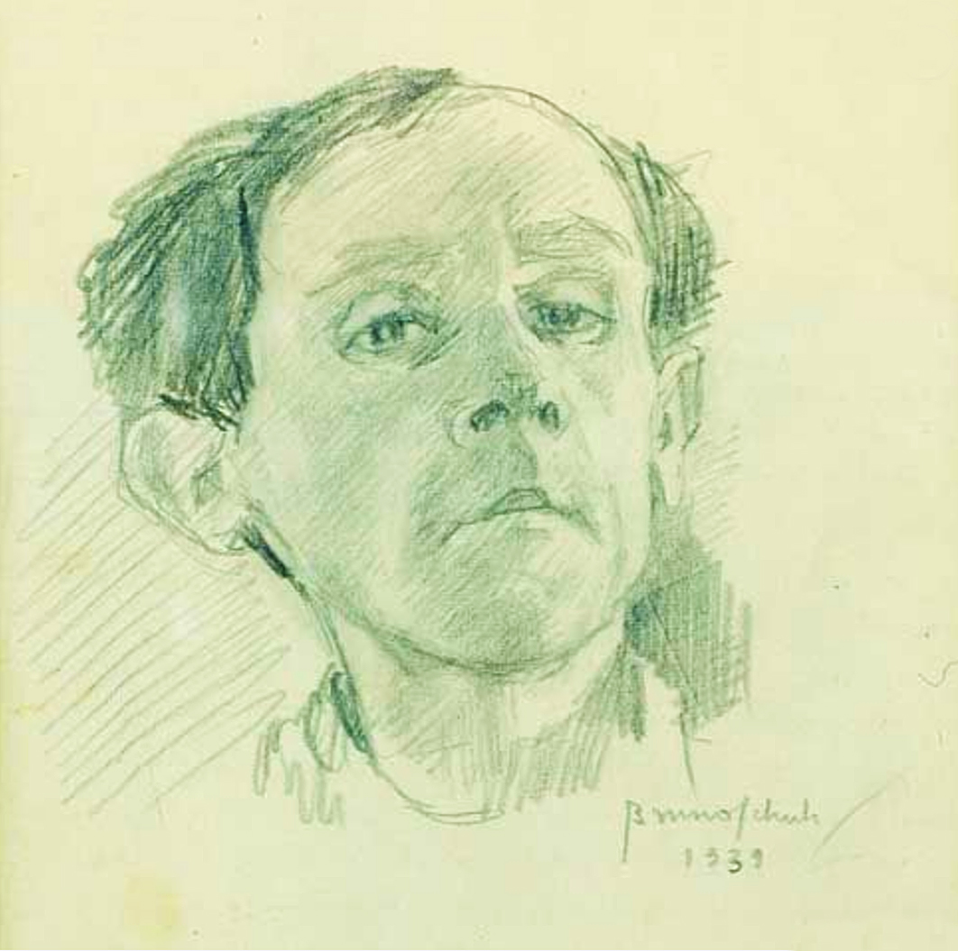 Бруно Шульц. Автопортрет 1939; папір, олівець