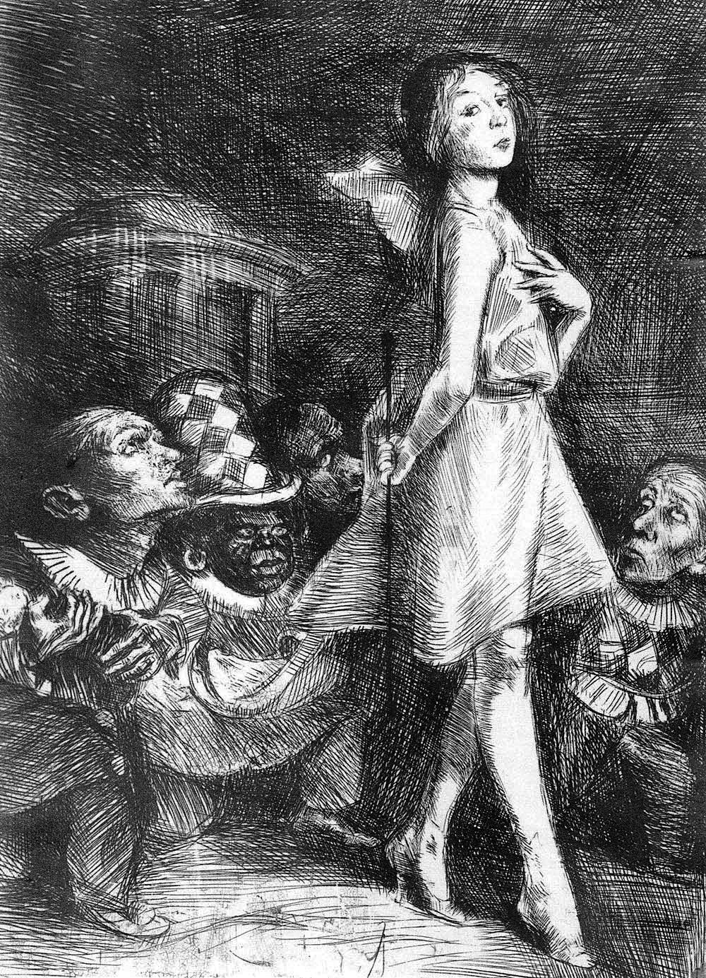 Бруно Шульц. Інфанта та карлики, 1920-22; сliché-verre