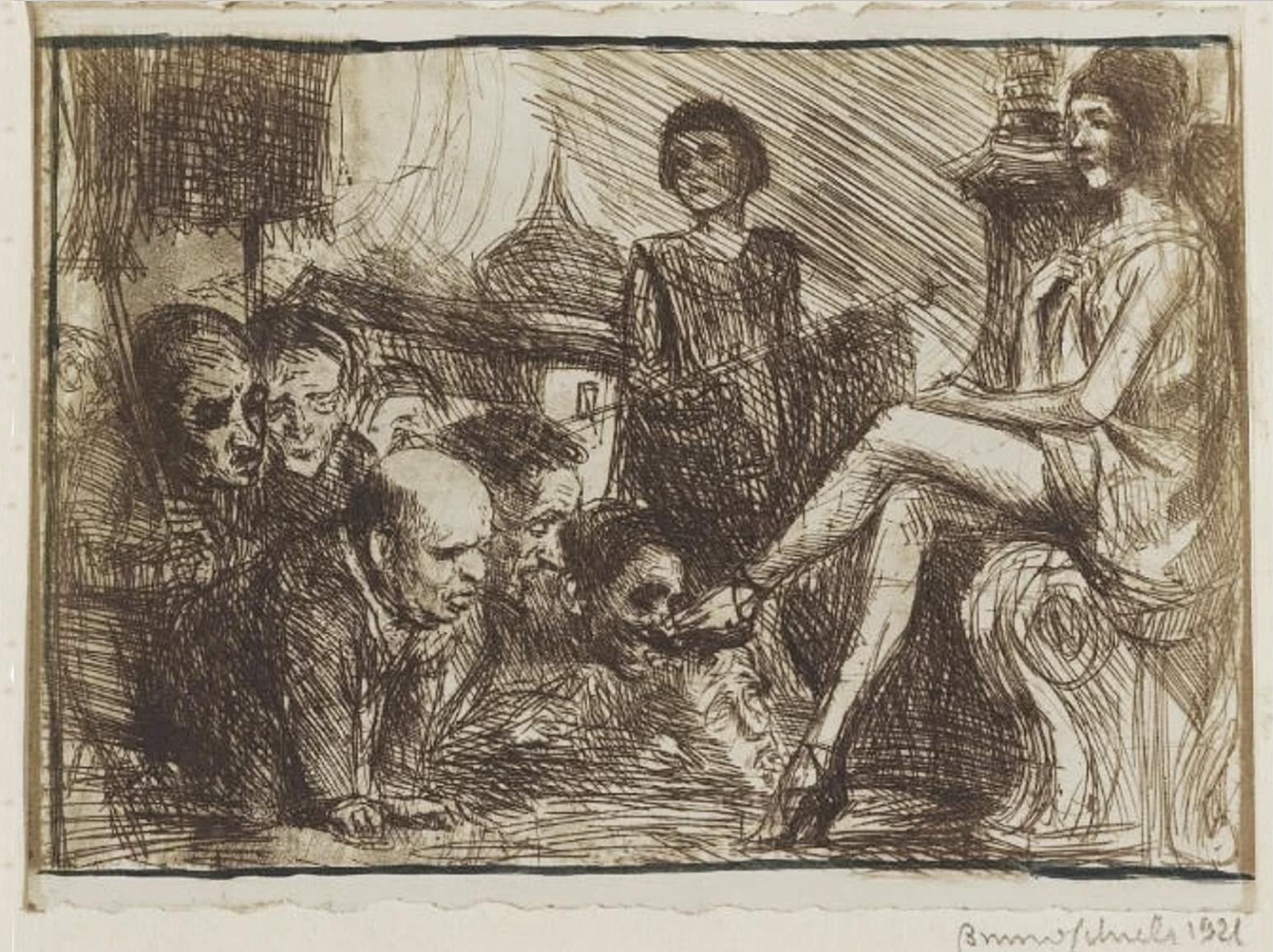 Бруно Шульц. Обряд ідолопоклонників, 1921; сliché-verre