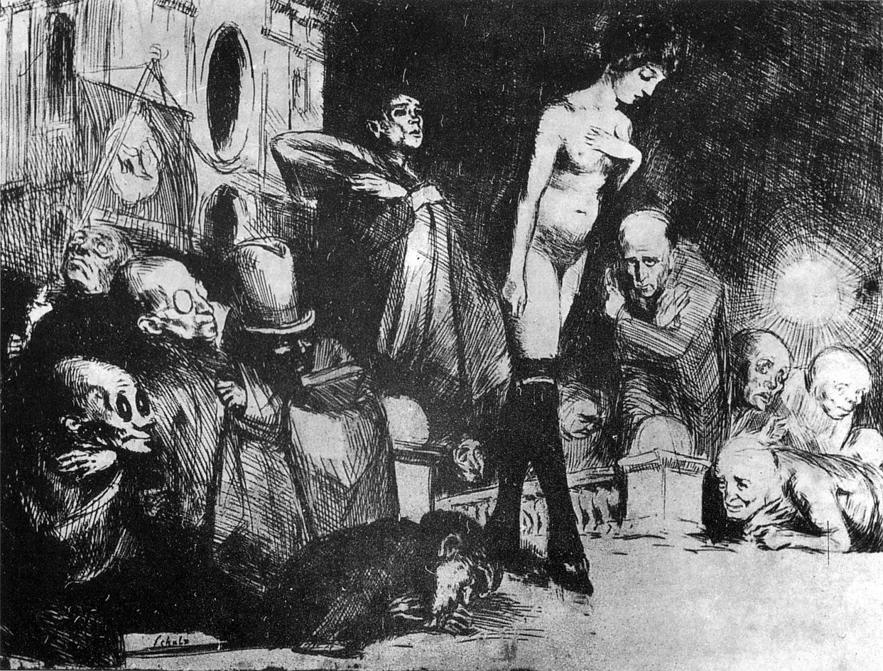 Бруно Шульц. Процесія, 1920; сliché-verre