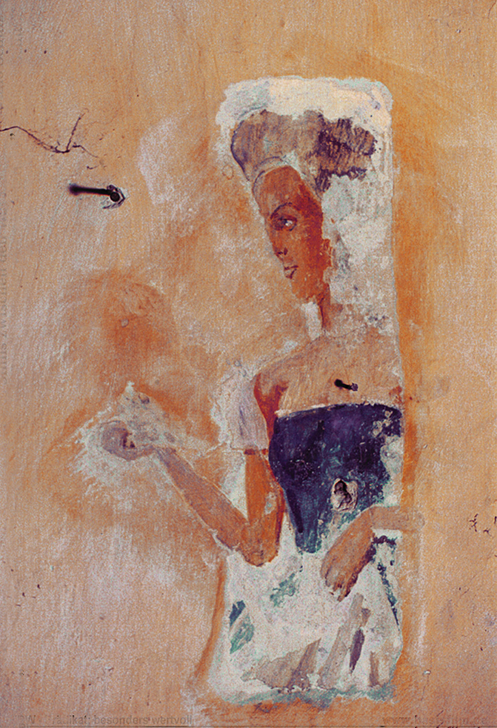 Бруно Шульц. Принцеса, 1942; фрагмент розпису в Дрогобичі
