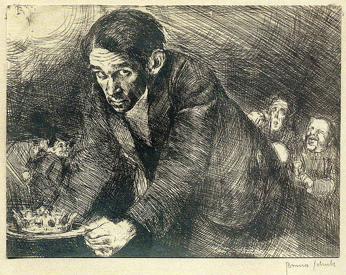 Бруно Шульц. Присвята (автопортрет), 1922 сliché-verre; MLW