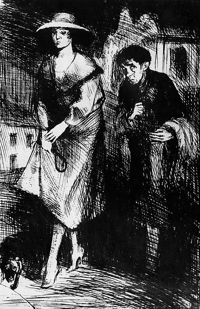 Бруно Шульц. Ундула прогулянка вночі, 1920-22; сliché-verre