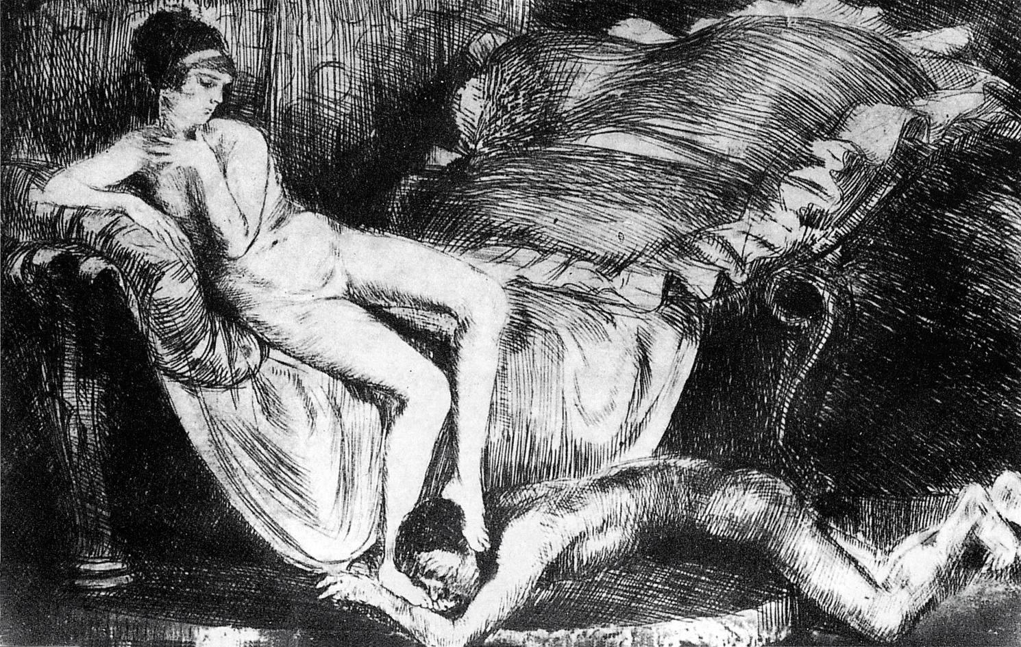 Бруно Шульц. Ундула - вічний ідеал, 1920 сliché-verre; MNW