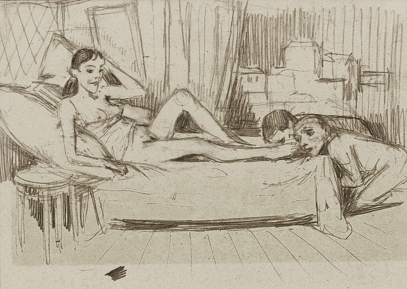 Бруно Шульц. Велелюбна, 1933; папір, олівець