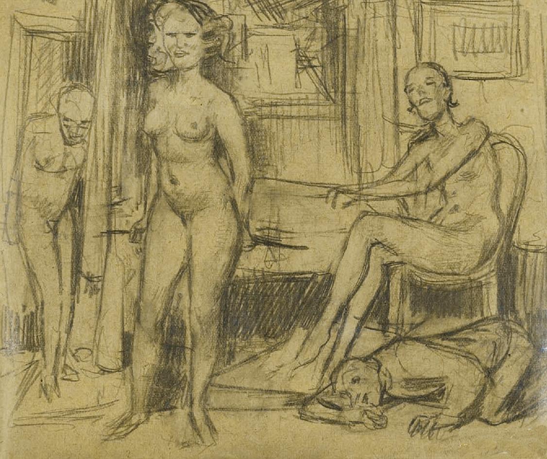 Бруно Шульц. Жінки та чоловіки; папір, олівець