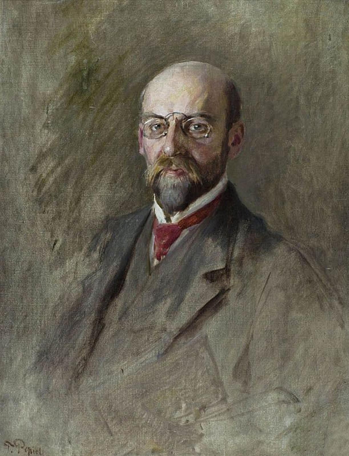 Тадеуш Попель. Чоловічий портрет; олія, полотно