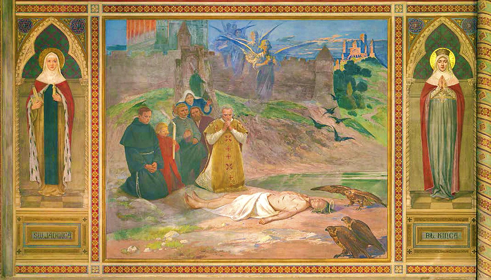 Тадеуш Попель. Фрески базиліки св Антонія в Падуї, 1899