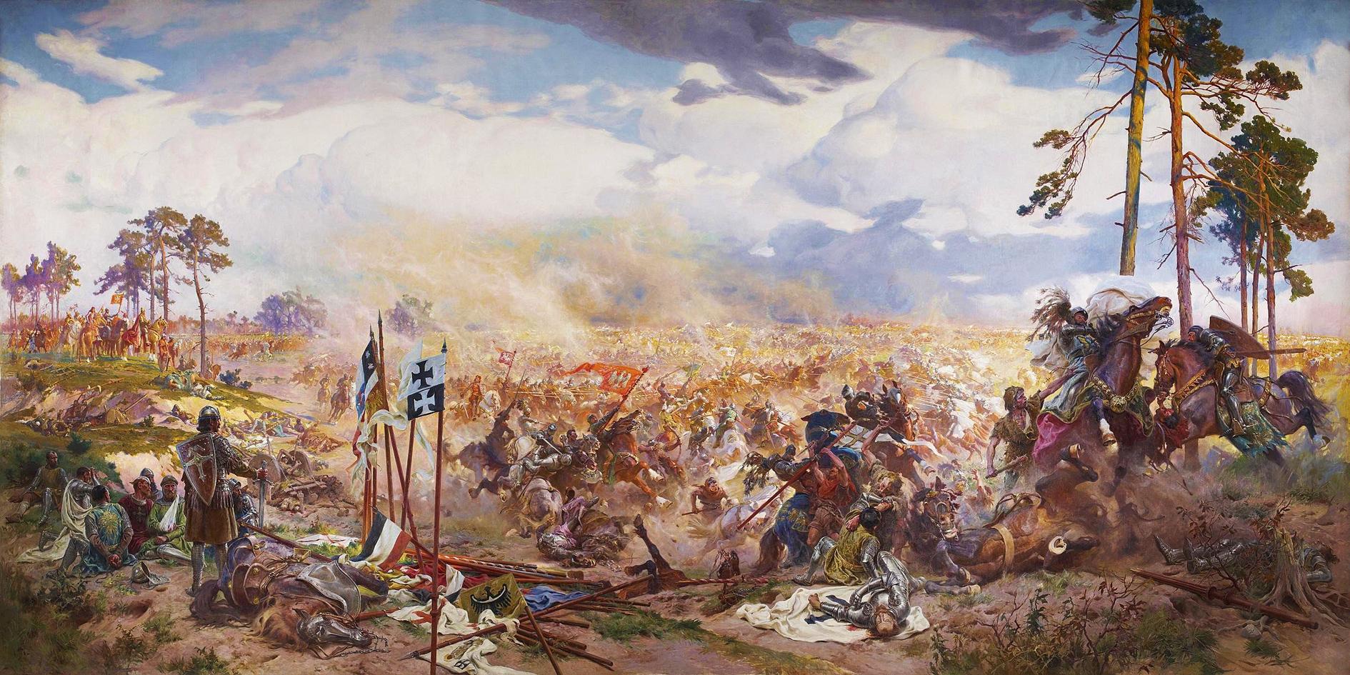 Тадеуш Попель. Грюнвальдська битва, 1910; олія, полотно; Львівський історичний музей