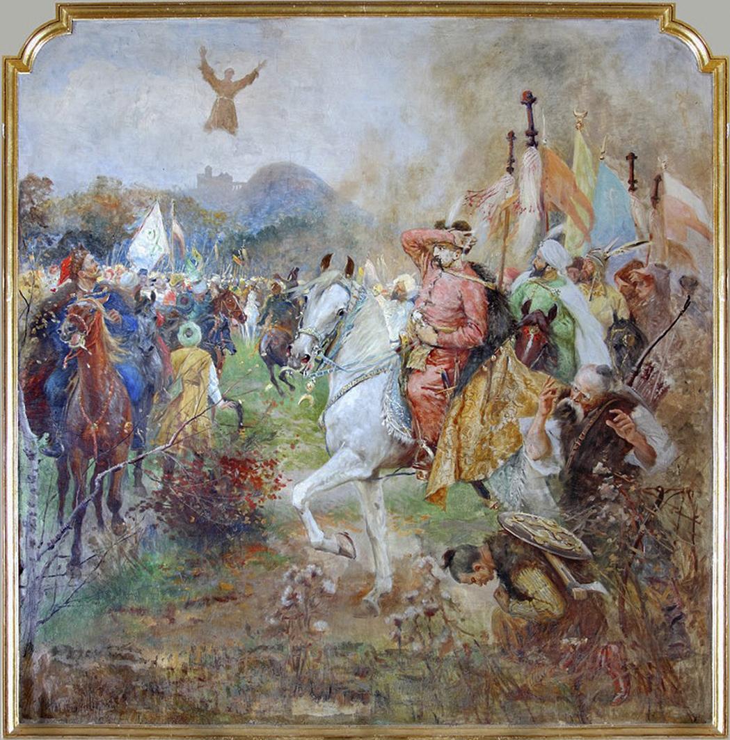 Тадеуш Попель. Ян з Дуклі рятує Львів від осади татар 1648, храм в Дуклі