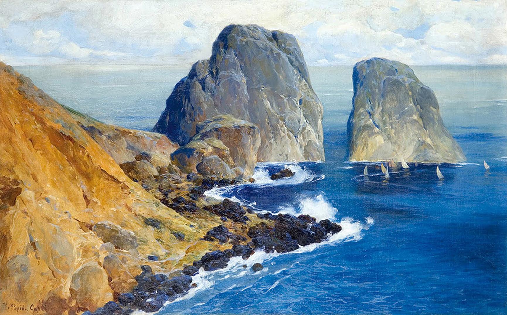 Тадеуш Попель. Капрі скелі Фаральоні, 1900; олія, полотно