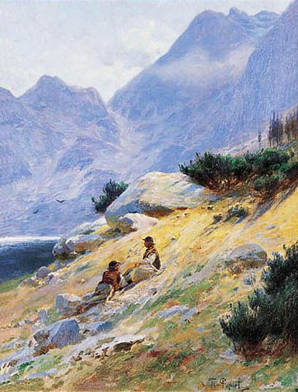 Тадеуш Попель. Озеро Морське Око 1900; олія, полотно