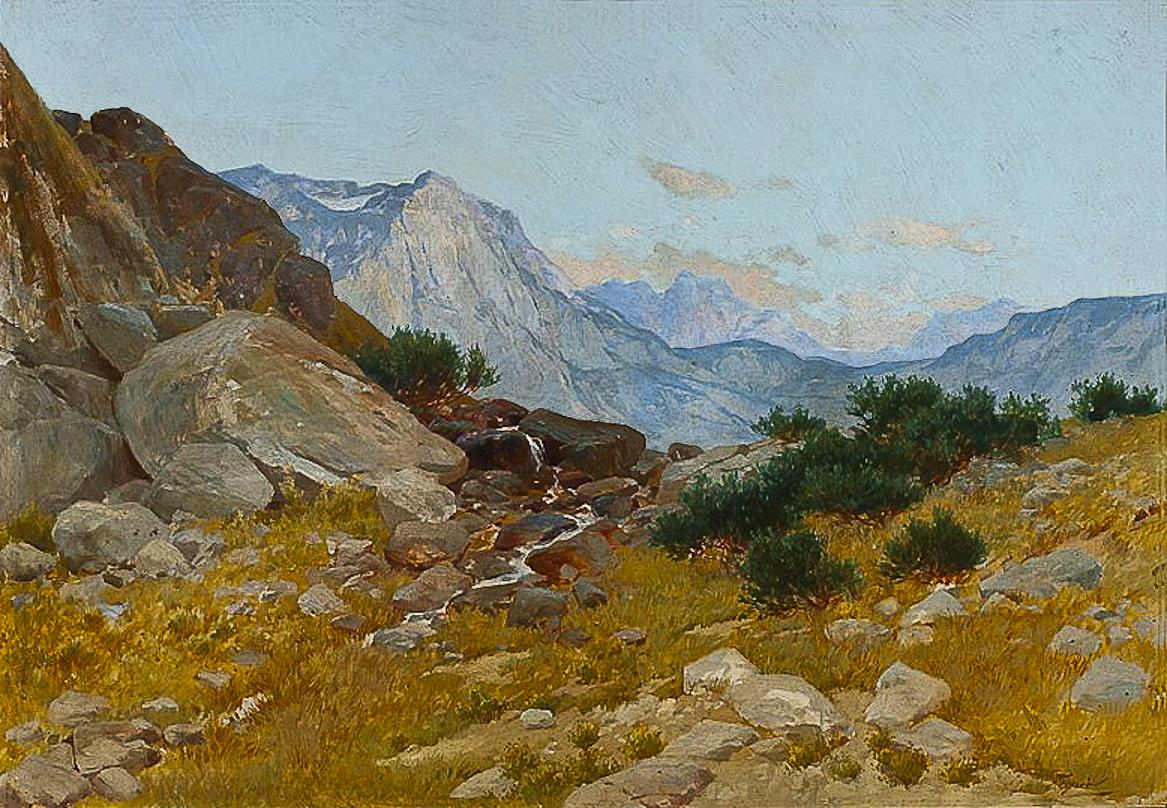 Тадеуш Попель. Пейзаж Татри 1890-ті; олія, полотно; NMW