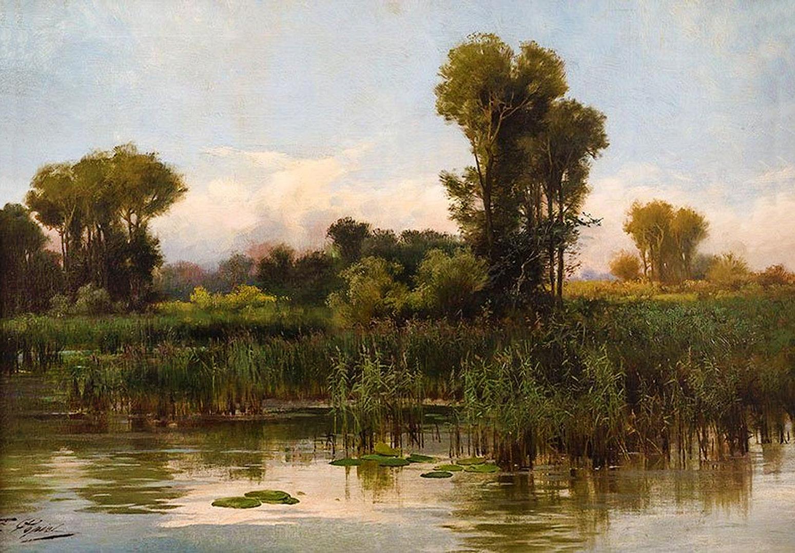 Тадеуш Попель. Пейзаж; олія, полотно