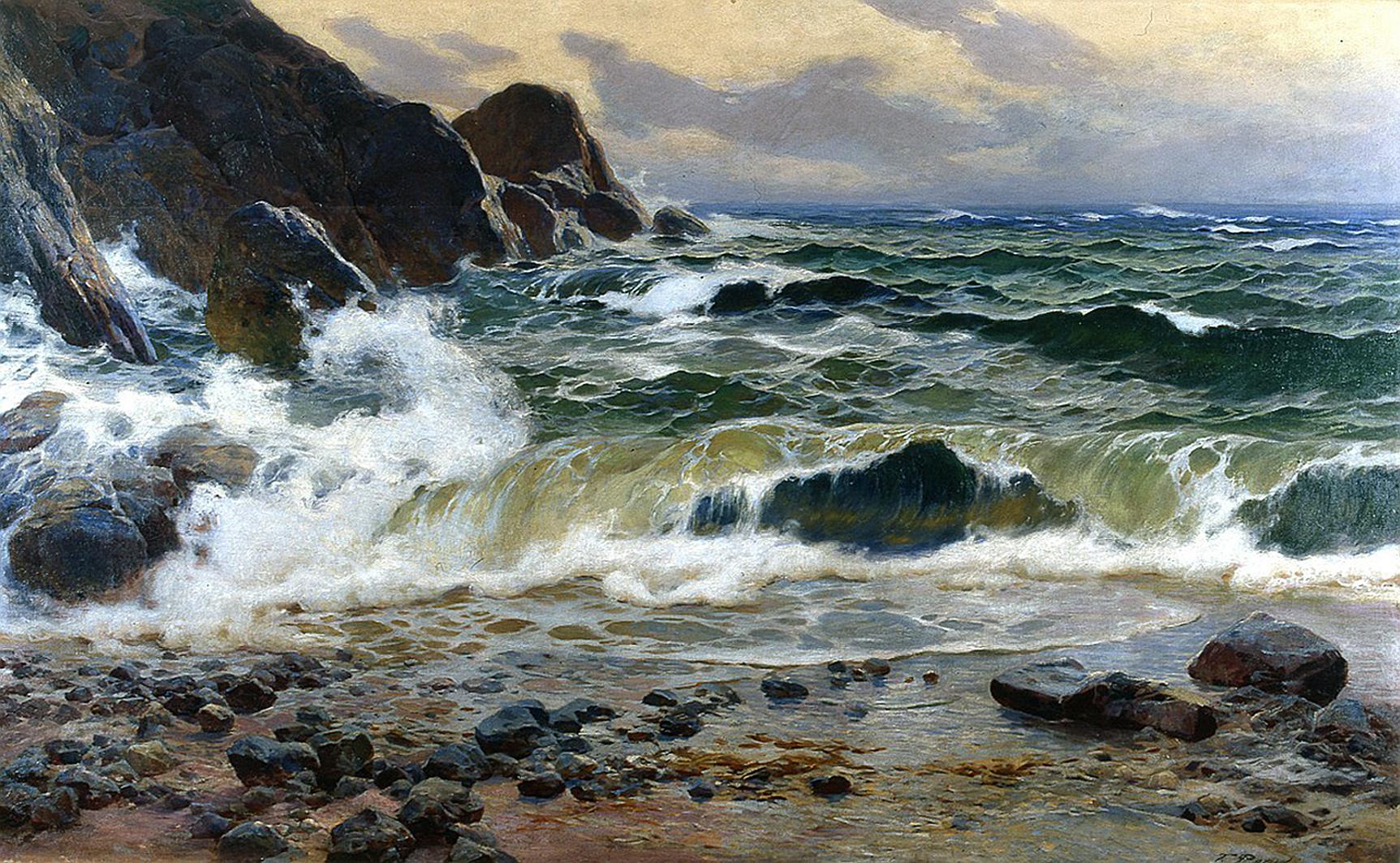 Тадеуш Попель. Сорренто море, 1904; олія, полотно; NMMG