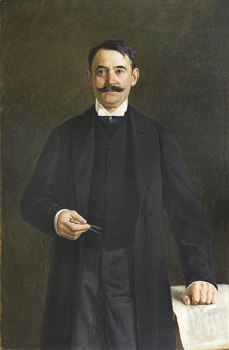 Тадеуш Попель. Теодор Таловський професор ЛП, 1900-ті; олія, полотно