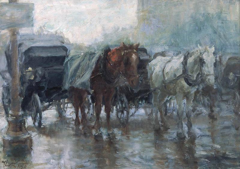 Мартин Кітц. Дроги під дощем, 1938