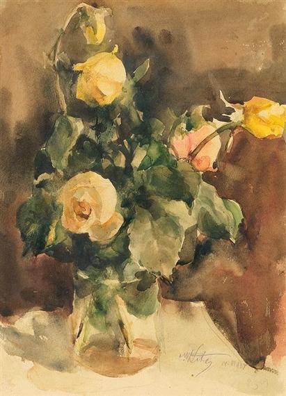 Мартин Кітц. Троянди у вазі, 1934