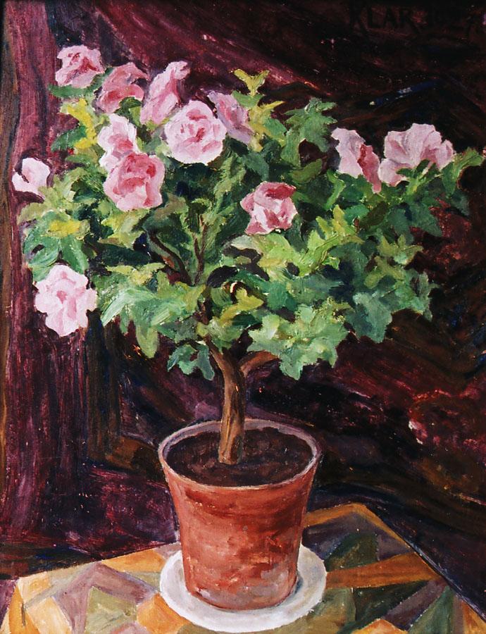 Артур Кляр. Троянди, 1920-30-ті; картон, олія