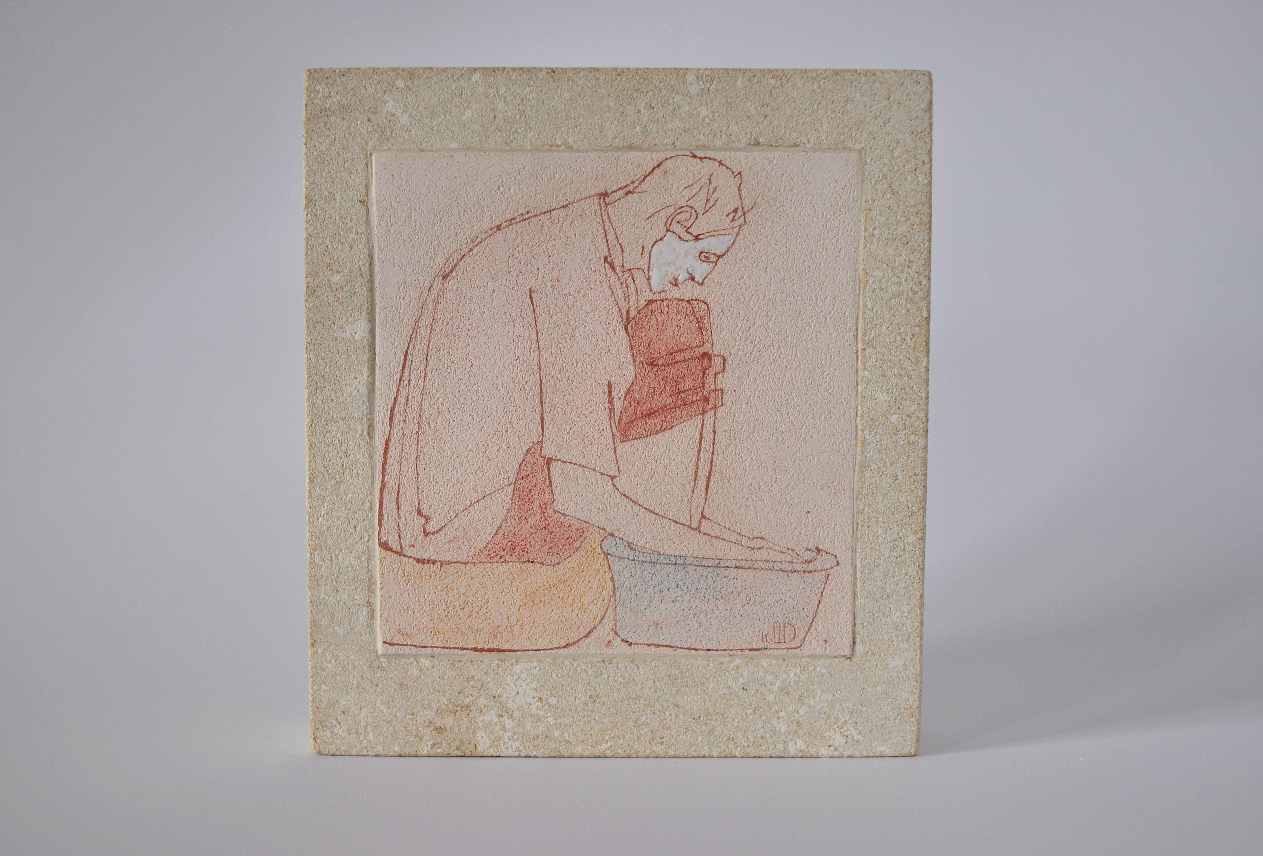 Денис Шиманський. Купання БУМ, 2016; кераміка (шамот), вапняк