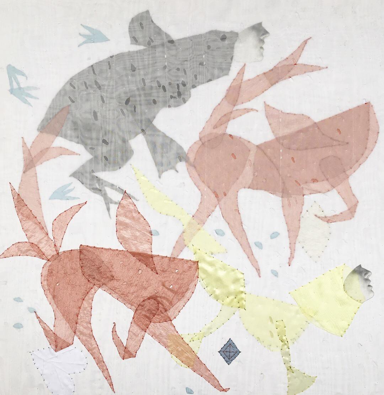 Василина Буряник. Феї лісові; нейлон, бавовна, 60х60