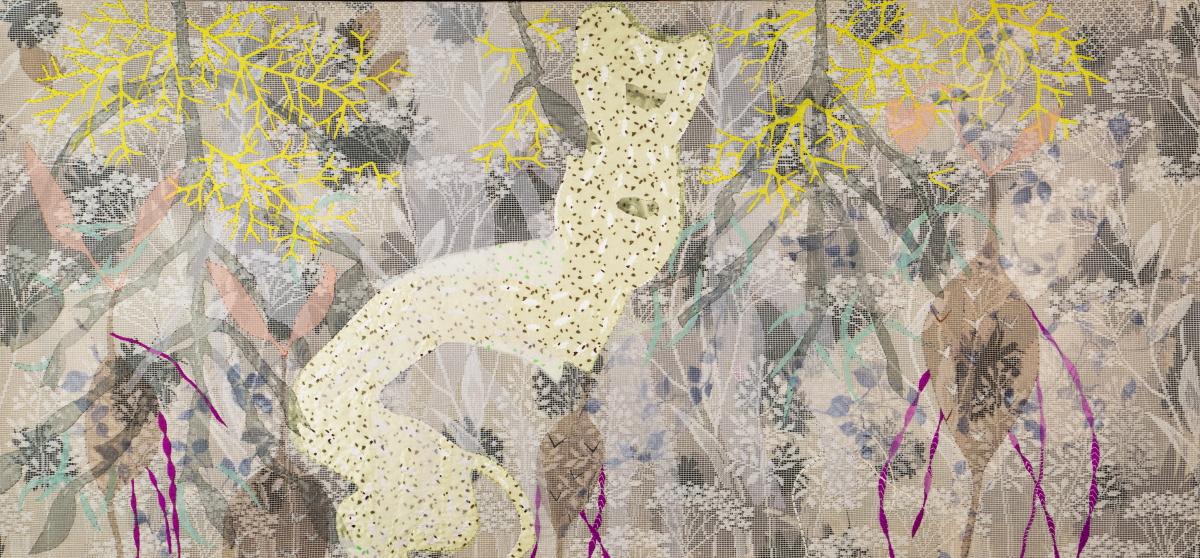Василина Буряник. Сіами, 2011; нейлон, бавовна, 170х70