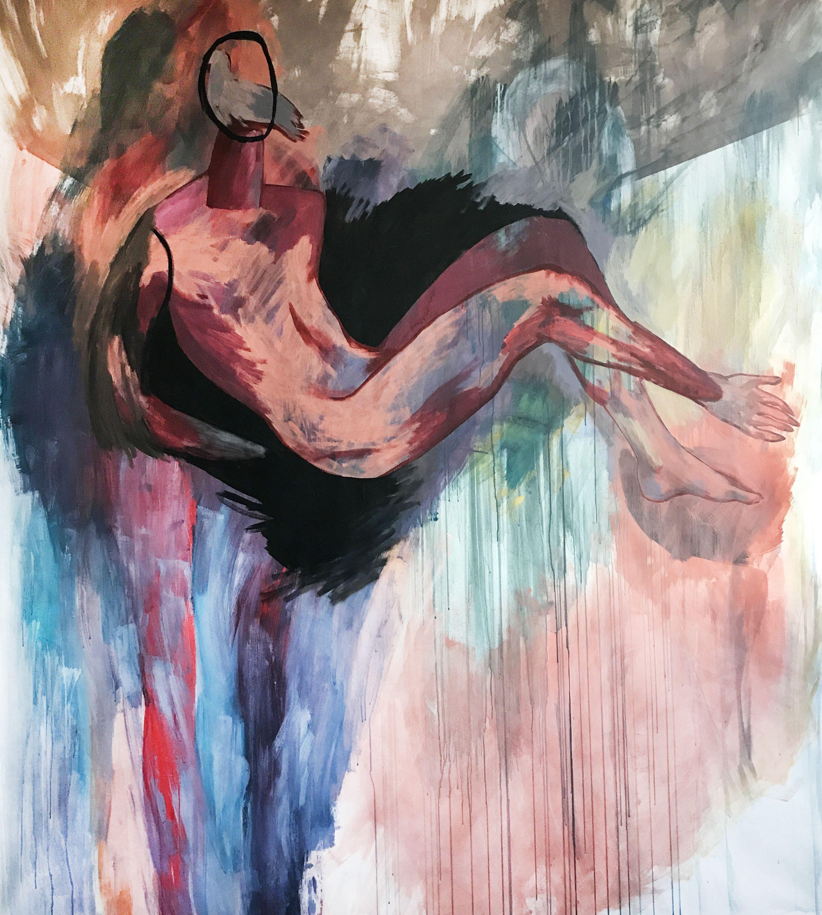 Ліза Жданова. Композиція з голубом, 180х200