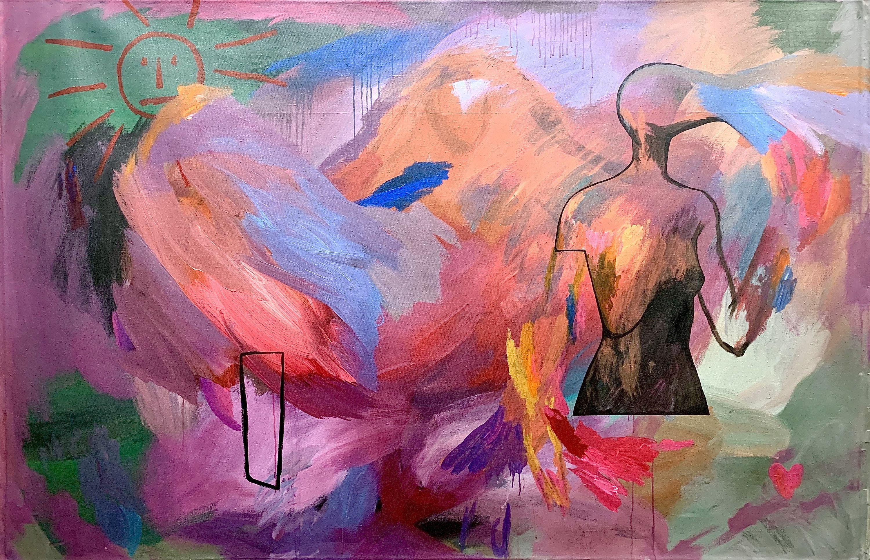 Ліза Жданова. Композиція з сонцем, 150х230