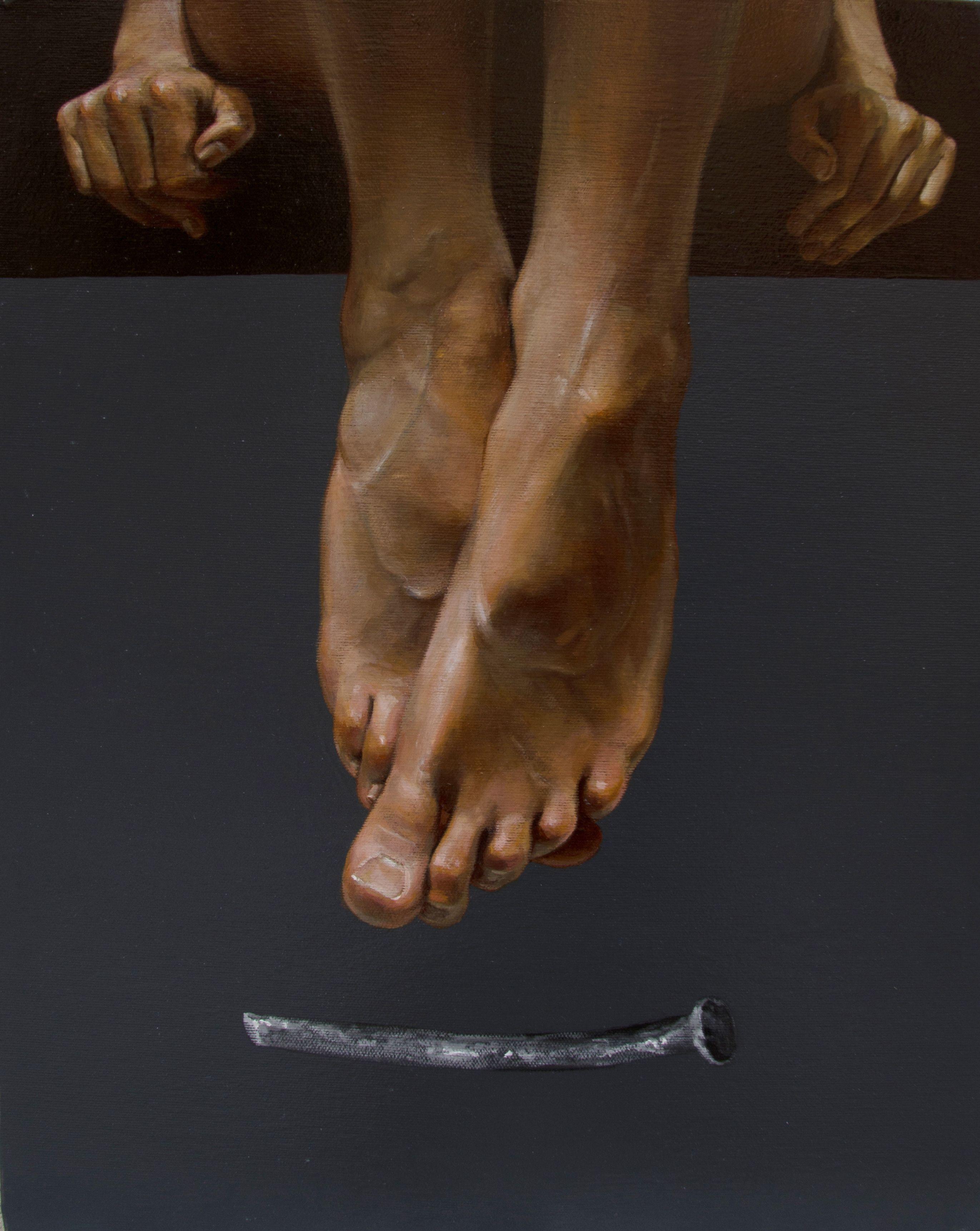 Юрій Коваль. Без назви, 2018, акрил, олія на полотні, 50х40