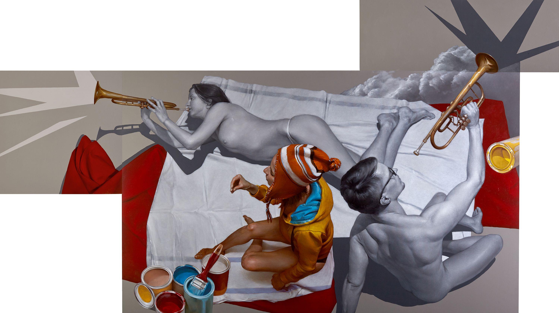 Юрій Коваль. Без назви, 2017; акрил, олія на полотні, 144х236