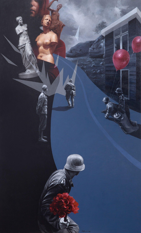 Юрій Коваль. Війна іншого формату, 2015; акрил, олія на полотні, 180х110