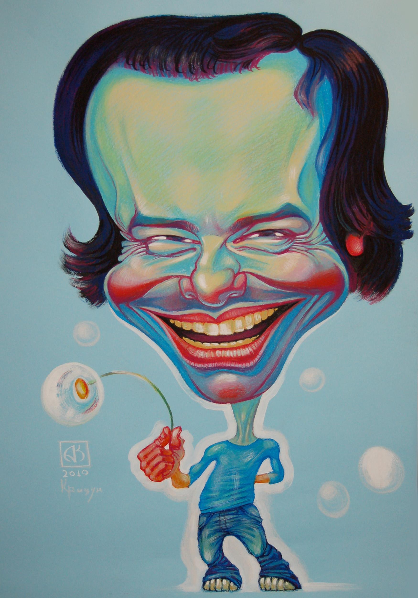Андрій Крицун. «Слава», 2010; папір, олійна пастель, 100х70
