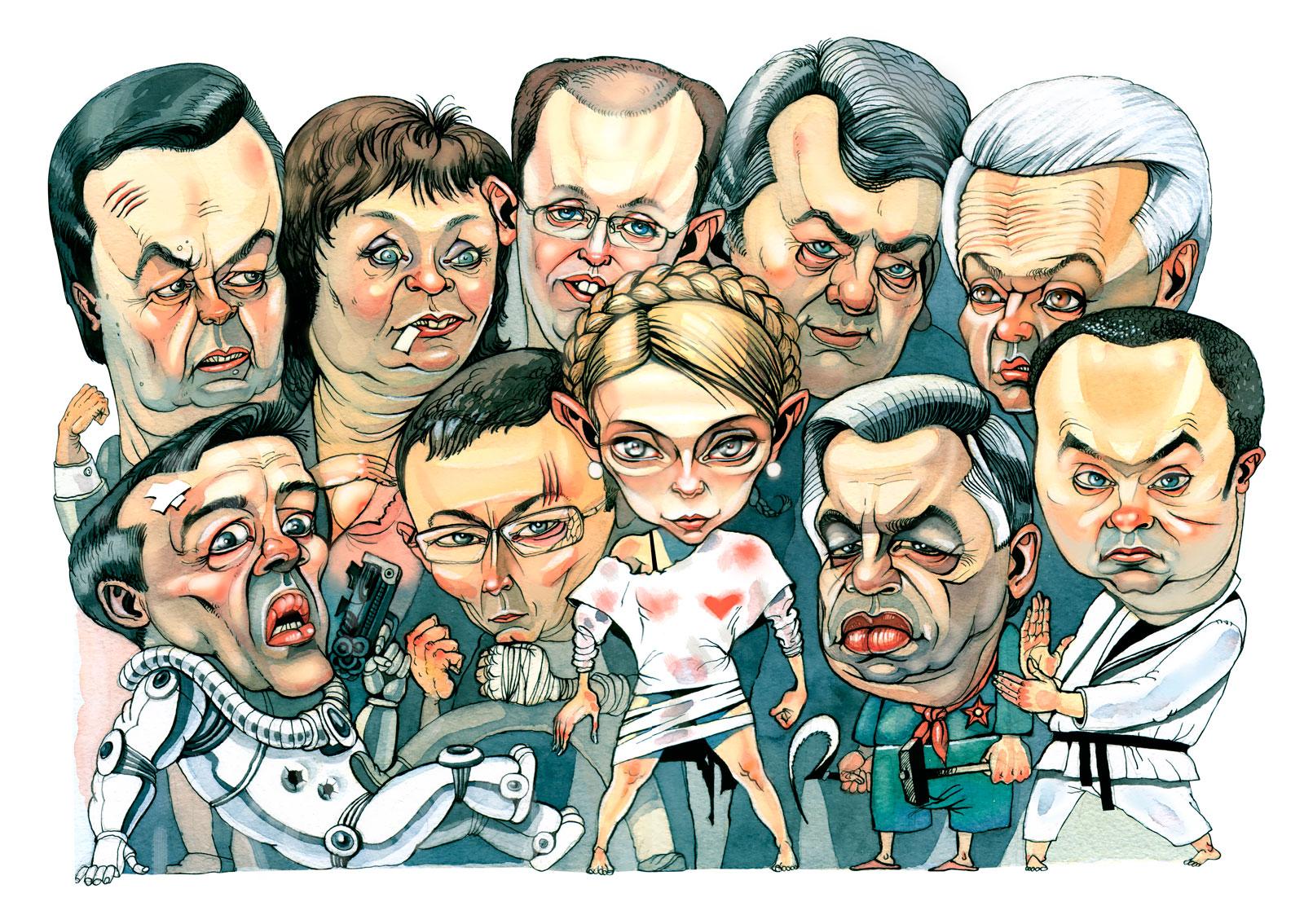 Андрій Крицун. «Королівська рать», 2007; папір, акварель, А3