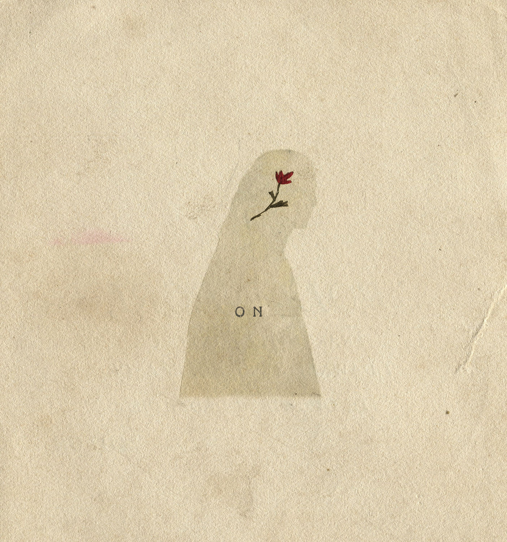 Євгенія Любчик. ON, 2019; цифровий колаж, вишивка, листівка, 10х14