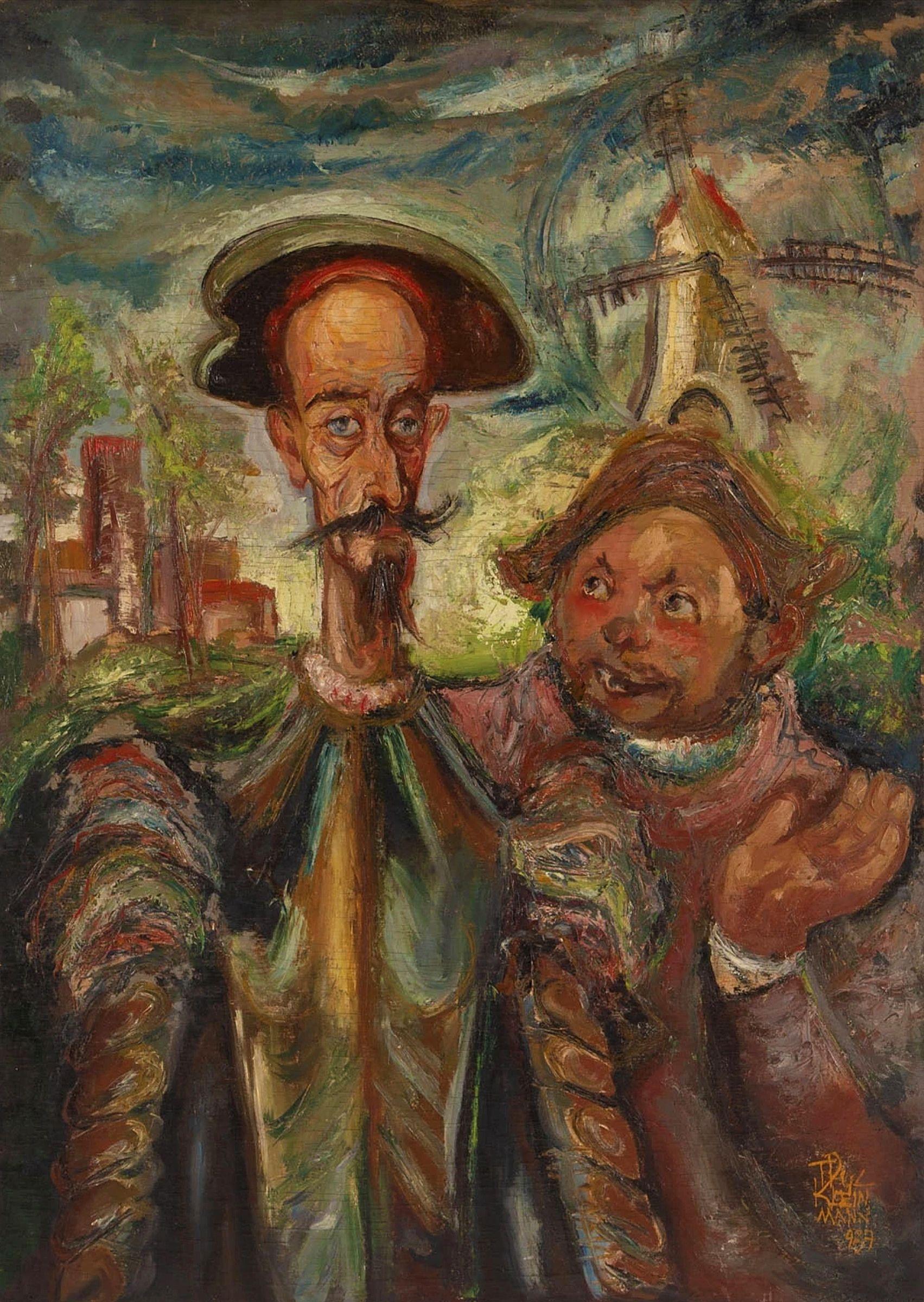 Фриц Кленйман. Дон Кіхот і Санчо Пансо, 1937