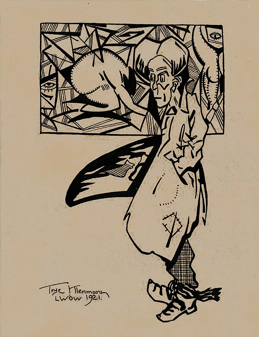Фриц Кленйман. Львівський авангардист, 1921; туш, картон