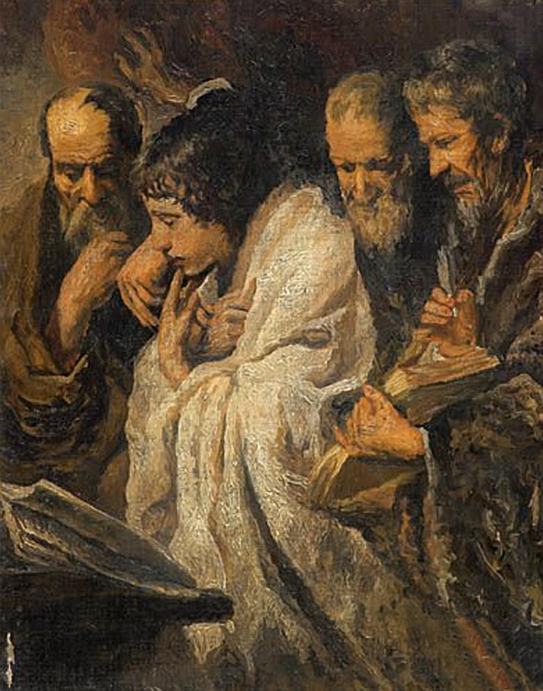 Фриц Кленйман. Молитва євреїв; картон, олія