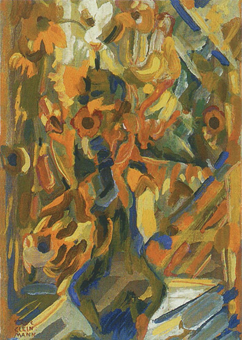 Фриц Кленйман. Квіти в вазі