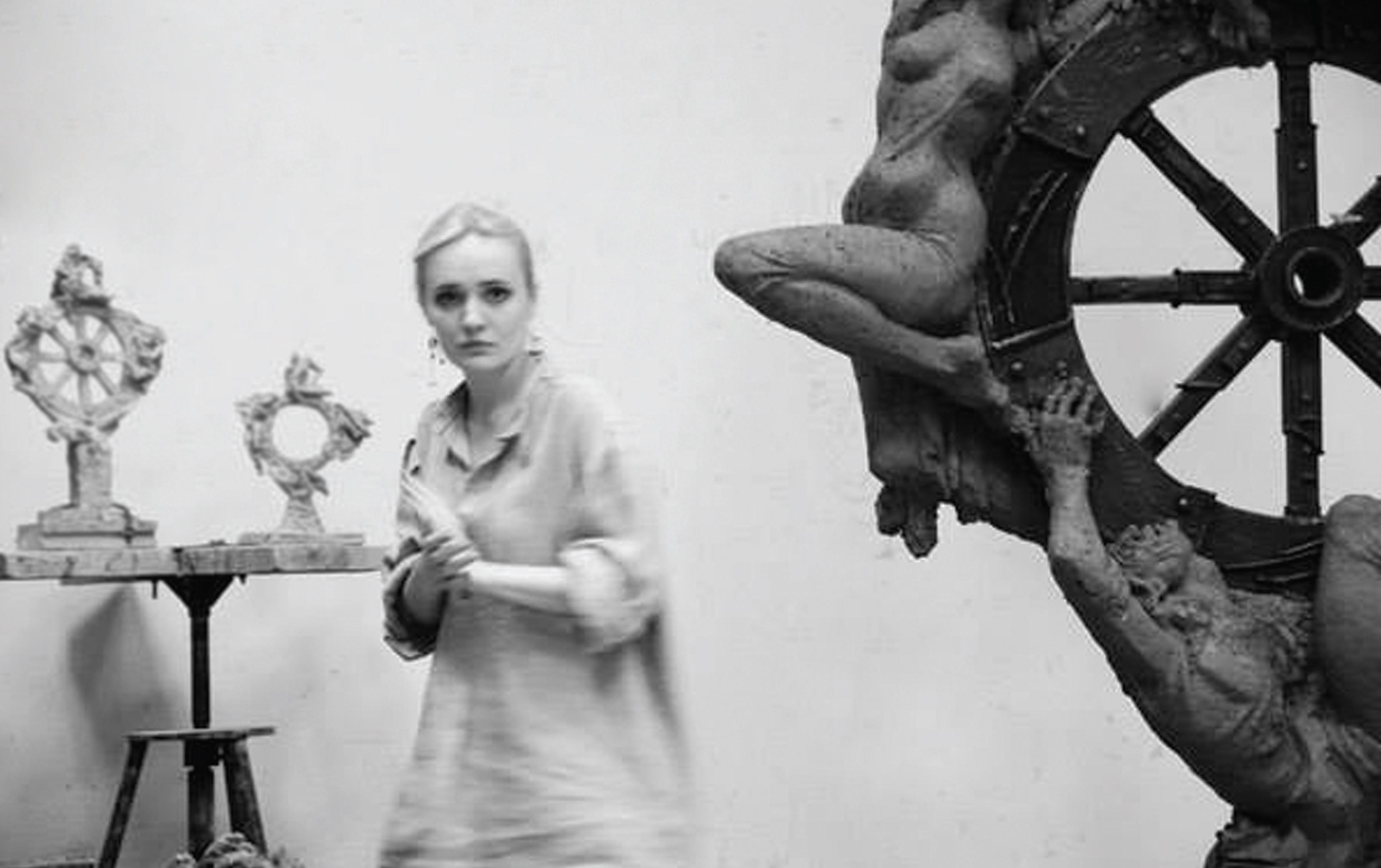 Соломія Гороб'юк. Колесо фортуни, 2013; кований метал, бронза, пластик, 230х150х40