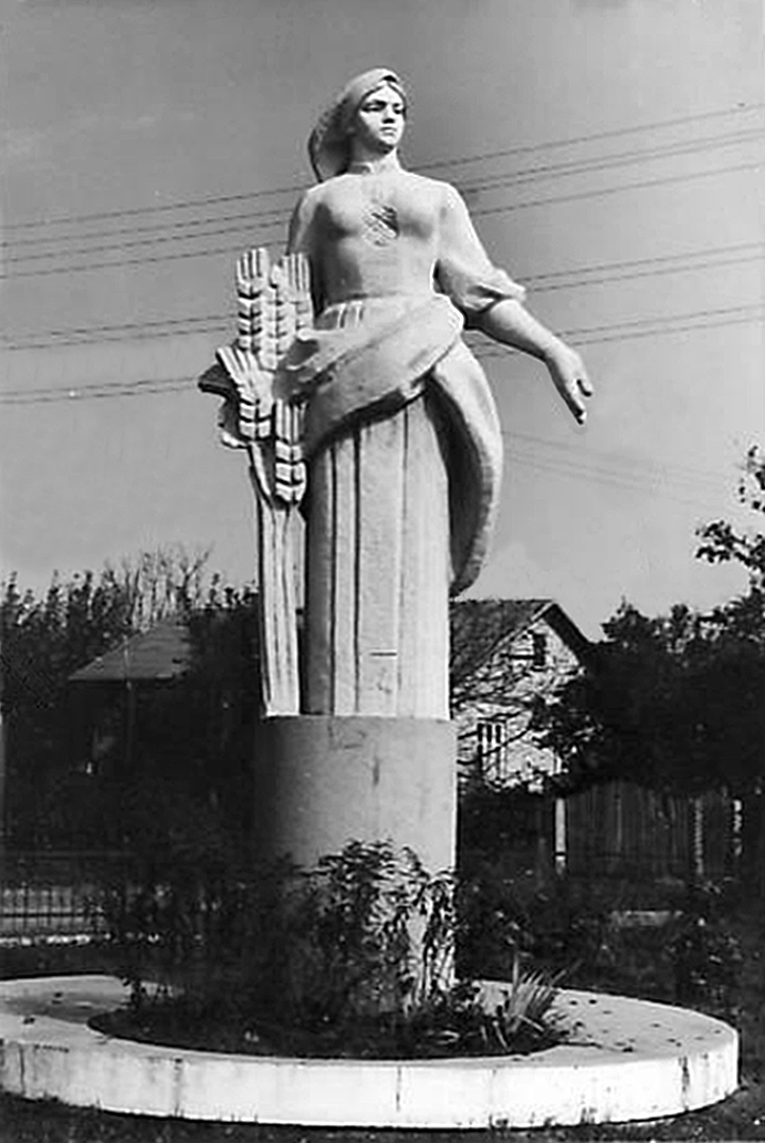 Луїза Штеренштейн. Скульптура при в'їзді до Львова