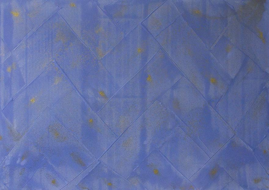 Антоніна Денисюк. Вплив синього, 2017; алебастр, рідке скло, полотно, 100х140 см