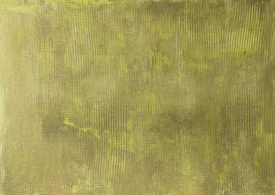 Антоніна Денисюк. Вплив золотого,  2017; алебастр, рідке скло, полотно, 100х140 см