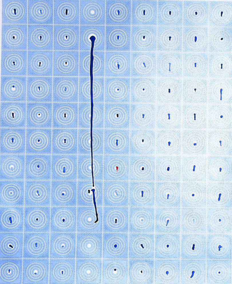 Антоніна Денисюк. Дзеркала, 1995; рисунок на папері, туш, акрил, 110х90 см